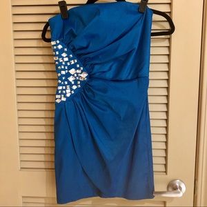 Electric Blue Structured Cocktail Dress